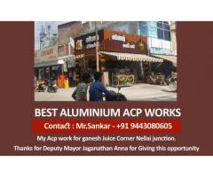 Best Aluminium Acp Works – 9443080605 Acp Glass Glazing in Tirunelveli